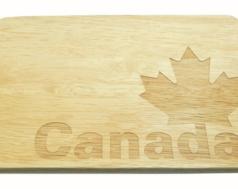 Breakfast Board Canada Brotbrett Canada Engraving-Breakfast board-engrave-Maple Leaf