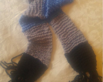 Hand Knit SUPER SOFT Chunky Cotton Scarf- extra long