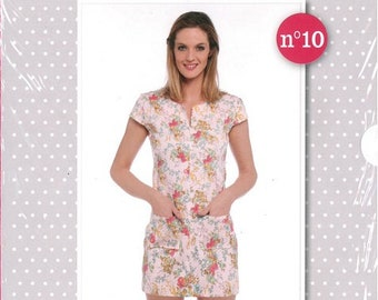 My dress tunic lilac easy sewing pattern