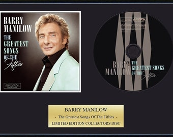 Barry manilow etsy barry manilow framed cd presentation disc display bookmarktalkfo Image collections