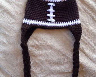 Football Beanie Hat with Earflaps