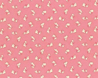 Retro 30's Child Smile Spring 2016 Collection Cotton Fabric Lecien 31280-20 Bunnies on Pink