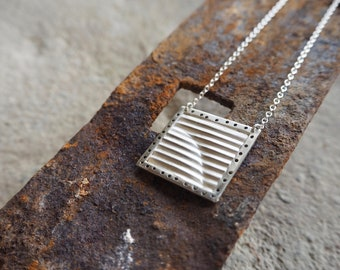 Sterling Silver Ripple Necklace