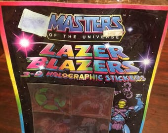 Masters of the Universe and A-Team Lazer Blazers Stickers - Set of 2