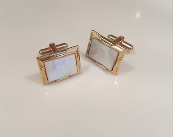 Vintage pearl front cuff links