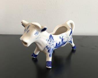 Vintage,Delft Blue, Milk Jug, Cow Milk Jug,Dutch,Made In Holland,Blue And White,Cow,Delft Milk Jug,Creamer,Delft,Delft Creamer,Dutch Pottery