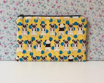 Pug Print Make Up Bag