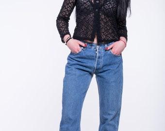 VINTAGE Blue LEVI'S Retro Wide Leg Denim Jeans