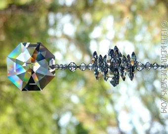 m/w Swarovski Crystal 40mm Clear LILY OCTAGON Suncatcher Rainbow Maker on Lily Octagon Strand by Lilli Heart Designs