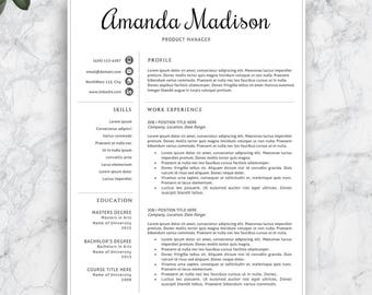 Professional cv template for ms word and pages creative yelopaper Image collections