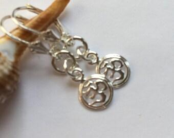 SS  OM earrings SS Yoga earrings Yoga Jewelry Handmade, Custom Jewelry