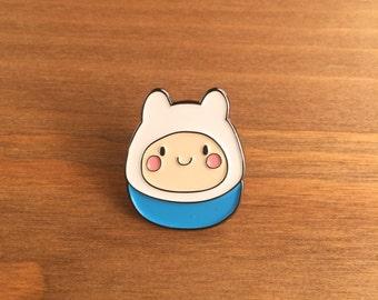 "Enamel Pin, Finn the Human, 1"" inch, Lapel Pin, Adventure Time, Tokidoki, Ghibli"