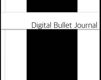 All BLACK bullet journal bujo planner or diary with minimalist dot paper