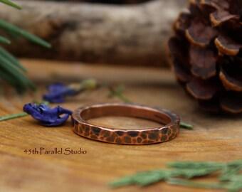 Hammered Copper Ring, Copper Ring, Hammered Ring, Copper Jewelry, Hammered Copper Jewelry, Textured Copper Ring, Rustic Copper Ring, Copper