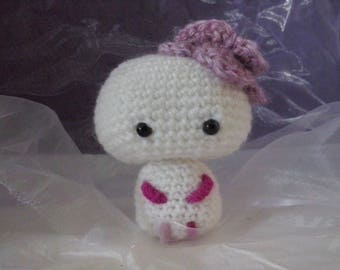 Cute amigurumi white