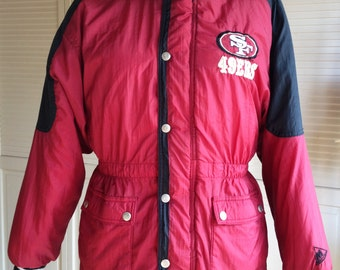 1960s SF 49ers Nylon Quilted Stadium Jacket