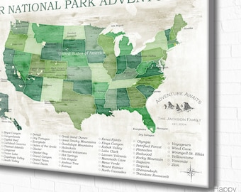 national parks map national park gift gift for hiker us national parks usa map with national parks gift for traveler push pin map usa