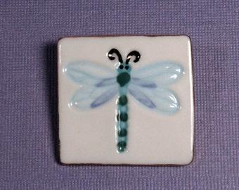Dragonfly Brooch Handmade Porcelain Ceramic Jewelry