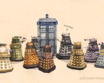Dr. Who 11x17 Print