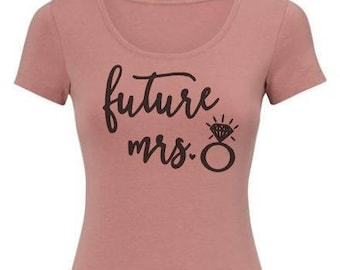 DIY Iron On Transfer Future Mrs Quote | Bachelorette Bachelor Wedding Party  Gift | Various colors available