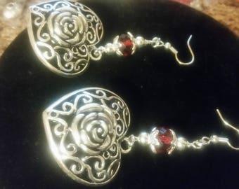 Valentine's Day Puffy Heart Pierced Earrings