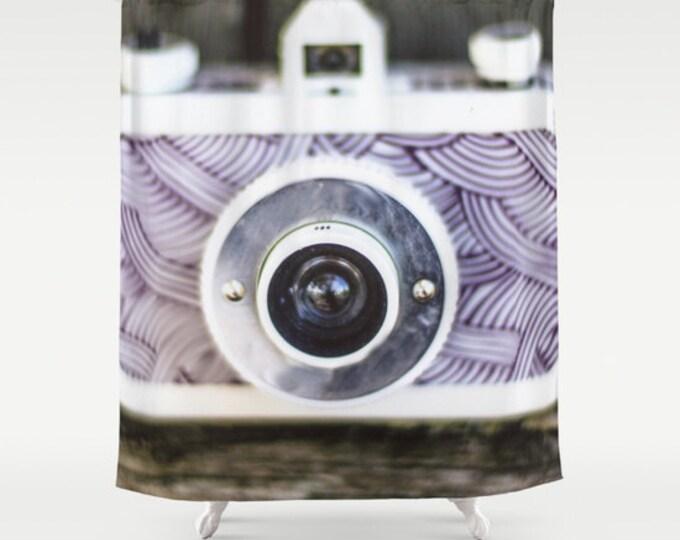 Camera Shower Curtain - Original Camera Photo - Bathroom Decor - Photography Lovers Shower Curtain - Made to Order