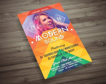 Colorful Music Event Flyer 3 in 1 PSD Template