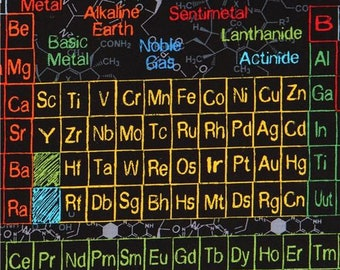 Science fabric etsy 217398 black fabric with colorful periodic table science by timeless treasures urtaz Gallery