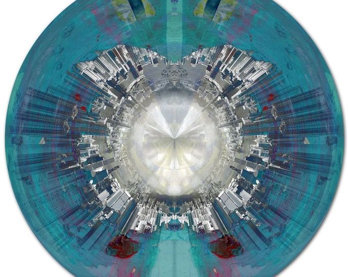 HK EYE I (Ø 100 cm) by Sven Pfrommer - Round artwork is ready to hang