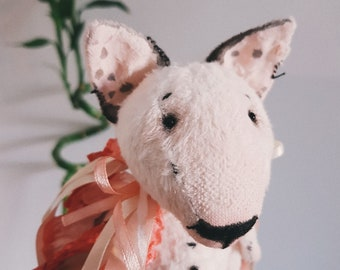 Finch, BULLTERRIER, teddy dog,dog, English Bull Terrier, Bull Terrier art, bull terrier toy, miniature dog toy, handmade toy, Soft toy,teddy