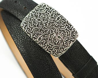 Stingray Belt, Custom Stingray Skin Belt, Custom Buckle