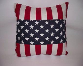 Patriotic flag pillow cover
