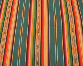 """Laura Kiran Southwest Stripes Bandolier Multi heavy twill like decor fabric, sent as pillow size cuts 18 or 26"""", or as a sewn cover"""
