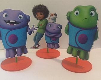 Home inspired Centerpiece, Tip, Oh, boov, alien race called the Boov  movie Home