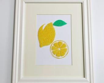 Glitter Lemon Art