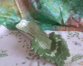 Hand Painted Celery Bowl by Gertrude