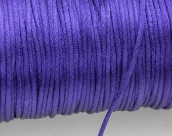 10 yards 2mm Purple Satin Rattail Cord