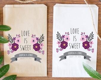 Custom Wedding Candy Bags, Custom Favor Bags, Brown Kraft Bag-BWE-211