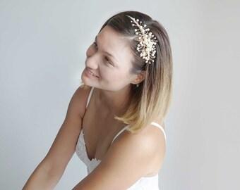 Wedding Headband,Gold Crystal Pearl  Headband,Bridal Headpiece,Jewelry Tiara, Wedding hair Accessories,