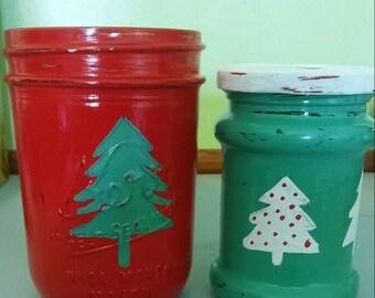 Mason Jar Christmas tree set