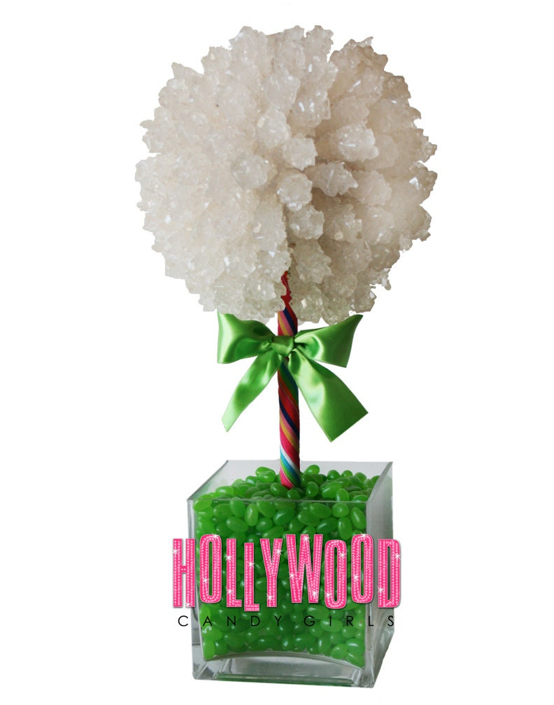 Green Rock Candy Centerpiece Topiary Tree Candy Buffet Decor