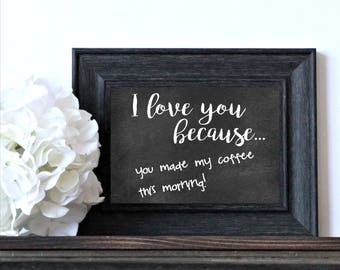 I Love You Because Dry Erase Board Picture Frame - Valentine's Day Gift - Engagement Gift - Anniversary Gift - Wedding Gift