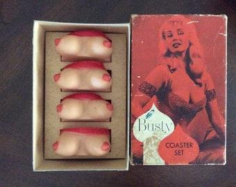 1950's Busty Coaster Set