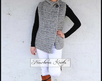 Crochet Vest Pattern - The Sherwood Vest/ Pattern number 084. Instant PDF Download - Includes 7 sizes up to 16 years.
