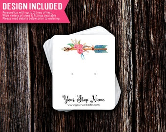 Floral Arrow Jewelry Cards | Earring Cards | Necklace Cards | Jewelry Display Cards | Design Included