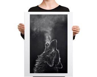 Howling wolf Canvas