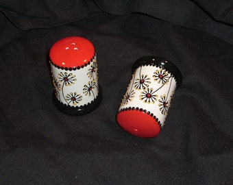 Small Cylinder Salt & Pepper Shakers
