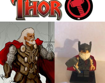 Avengers Old Man Thor Custom made Minifigure  some models build of LEGO® bricks