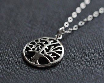 Tree of Life Silver Necklace  - Sterling Silver Jewelry - Tree Pendant