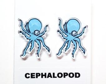 Cephalopod Acrylic Earrings